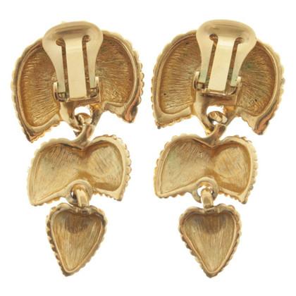 Lanvin orecchini clip con pietre preziose
