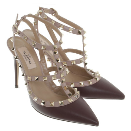 Valentino pumps with rivet trim