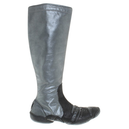 Marithé et Francois Girbaud Boots in Blue Metallic