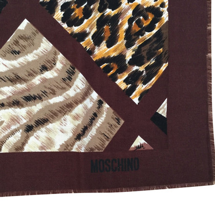 Moschino Tuch mit Animalprint