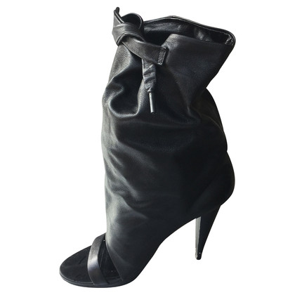 Balenciaga Peeptoe leather boots