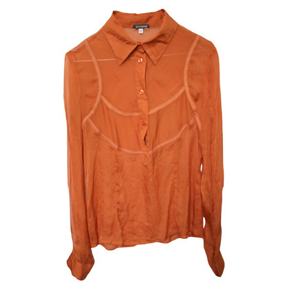 Ferre Orange silk blouse