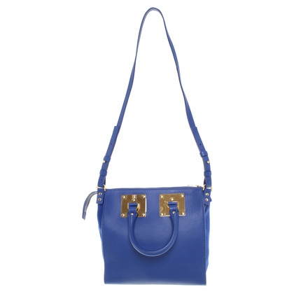 Sophie Hulme Leather Handbag in Blue