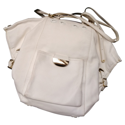 0704d7f662 Gianni Versace Shopper Leather in White - Second Hand Gianni Versace ...