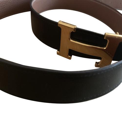 gut kaufen limitierte Anzahl heiße Angebote Hermès Gürtel aus Leder in Schwarz - Second Hand Hermès ...