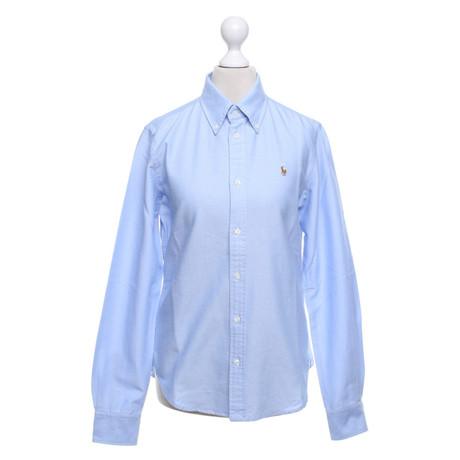 Ralph Lauren Hemdbluse in Hellblau Blau