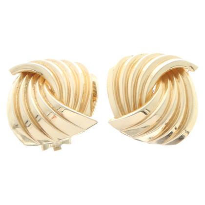 Christian Dior Gouden clip oorbellen