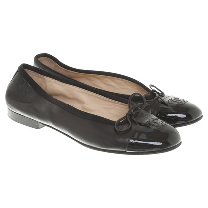 Chanel Ballerina's in zwart