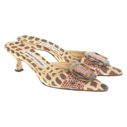 Manolo Blahnik Leopard sandals
