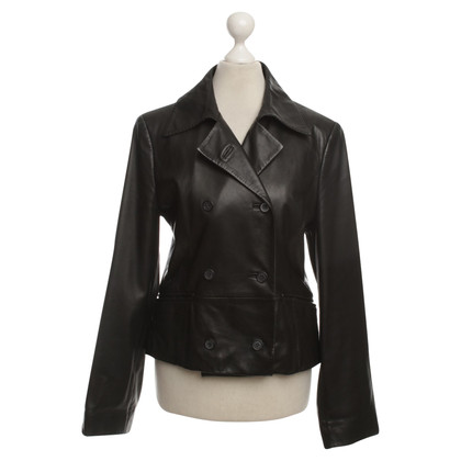 St. Emile Leather Blazer in black