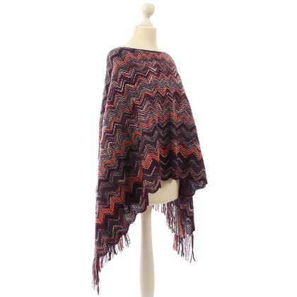 Missoni Knitted poncho with tassels