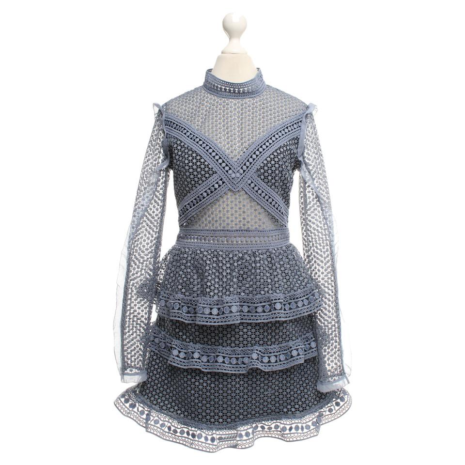Self-Portrait Robe bleue de crochet