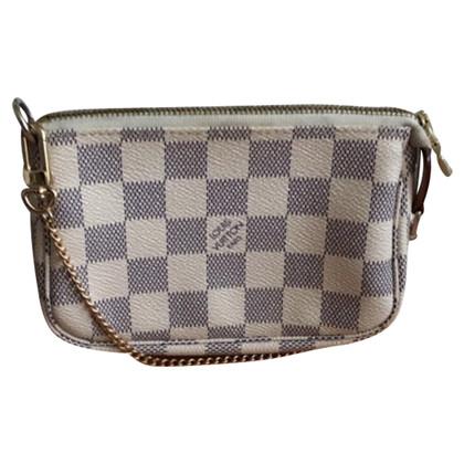 """Louis Vuitton """"Mini Pochette Accessoires Damier Azur Canvas"""""""