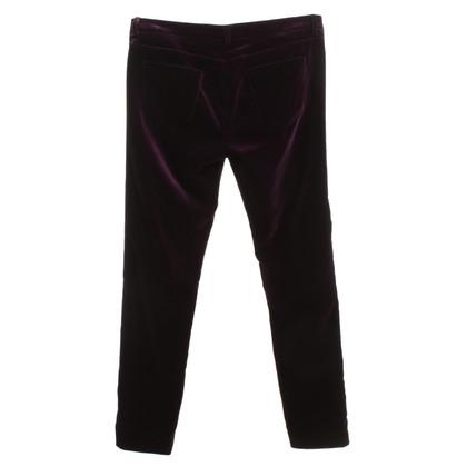 Victoria Beckham Velvet pants in Violet