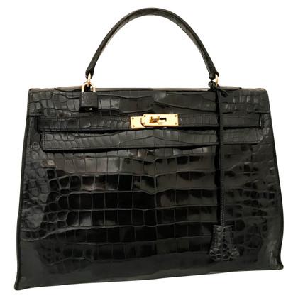 "Hermès ""Kelly Bag 35"" made of crocodile leather"