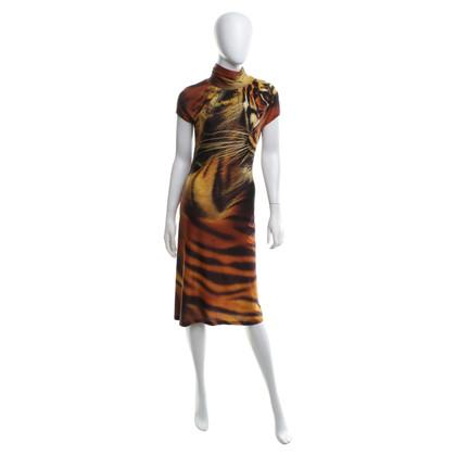 Roberto Cavalli Dress with tiger motif