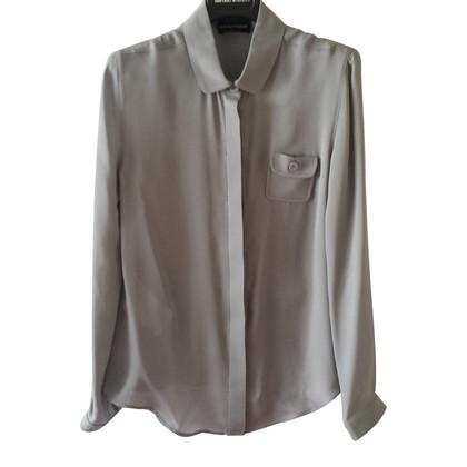 Armani Grijze zijde blouse
