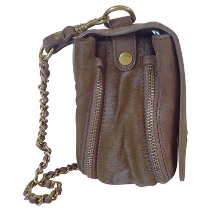 Jerome Dreyfuss Shoulder bag with pony fur trim