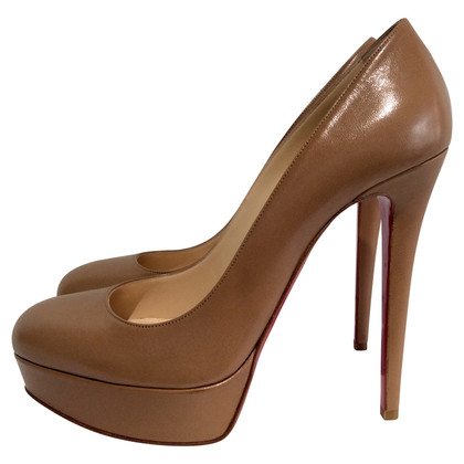 Christian Louboutin Bianca 140 Kid Camel Pumps
