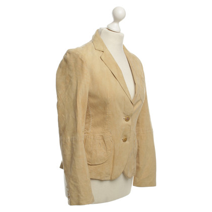 Hugo Boss Leder-Blazer in Beige