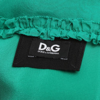 Dolce & Gabbana Silk dress in green
