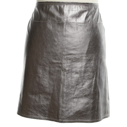 Marc Cain Leather skirt in silver