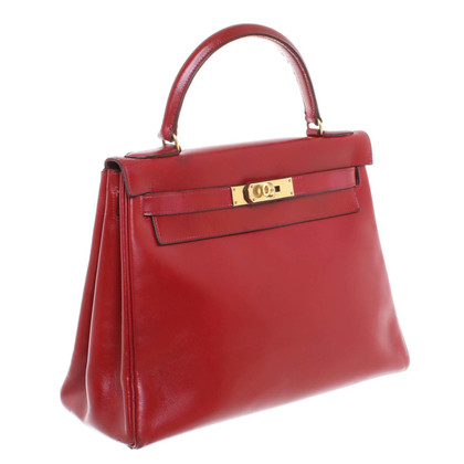"Hermès ""Kelly Bag 28"" in rosso ciliegia"