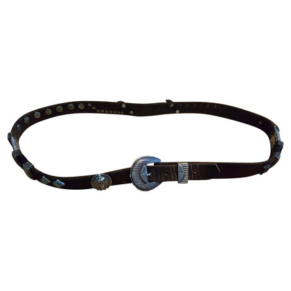 MCM Belt with metal trim