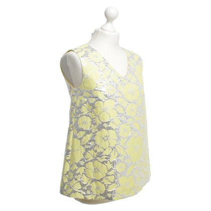 Max Mara Top in yellow/silver