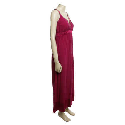 Hale Bob Long silk dress in fuchsia