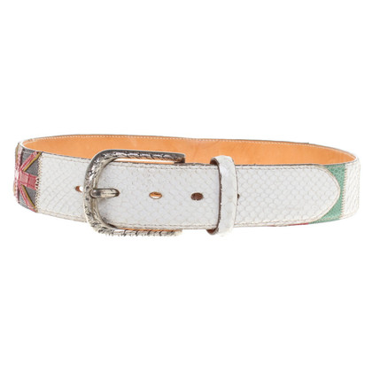 Reptile's House Belt made of snakeskin