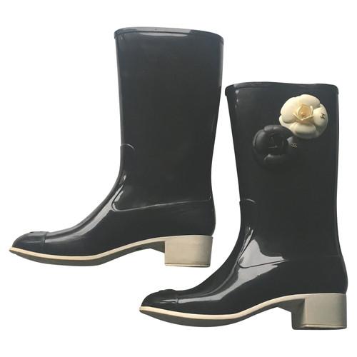 Chanel bottes de pluie - Acheter Chanel bottes de pluie d occasion ... a7c0ca1455a