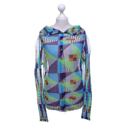 Issey Miyake Patterned blouse in multicolor