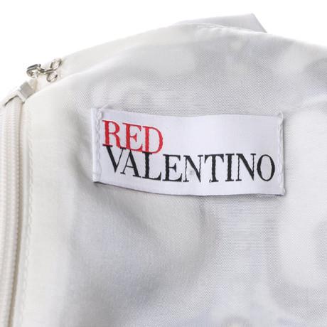 Red Muster Red Wei mit Kleid Valentino Valentino qqUSx8zg
