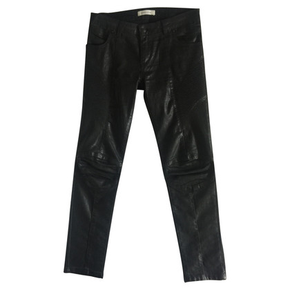 Balmain Black biker trousers