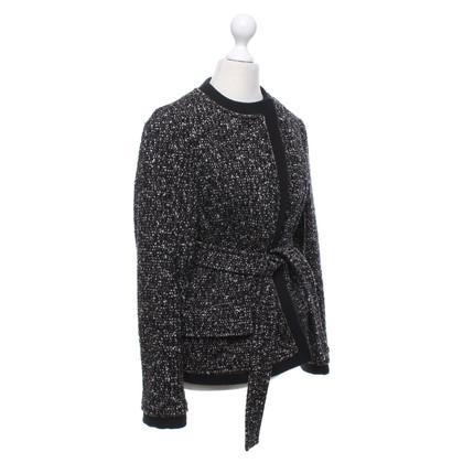 Yves Saint Laurent Jacket in black / brown / white