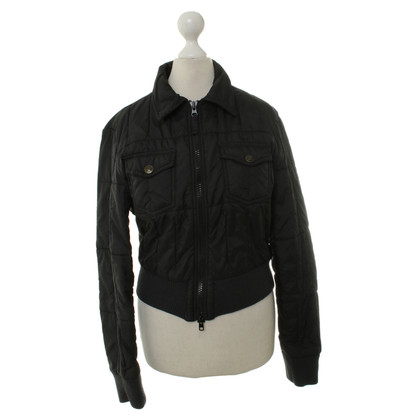 Armani Jeans Kurze Steppjacke in Anthrazit