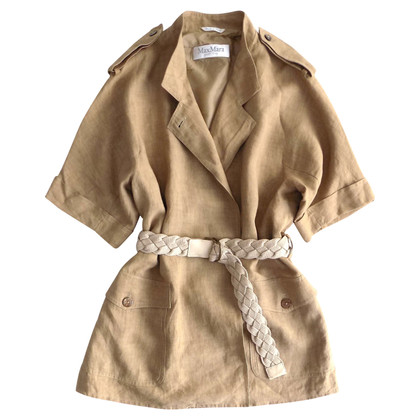 Max Mara Extra grote Trenchcoat gemaakt van linnen