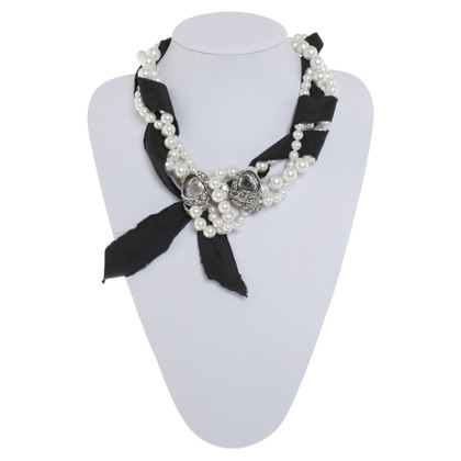 Lanvin Necklace with beaded trim