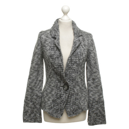 Marc Cain Knitted Blazer in grey