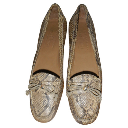 Car Shoe Ballerinas made of python leather