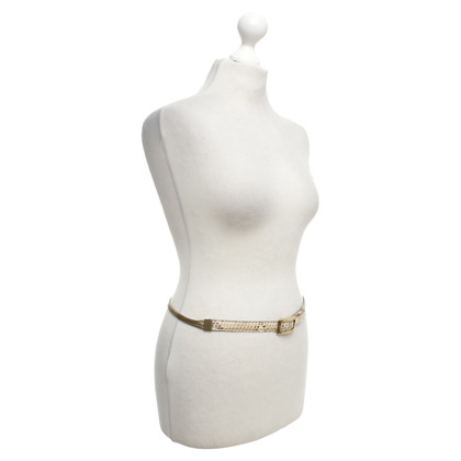 DKNY Belt with reptile embossing