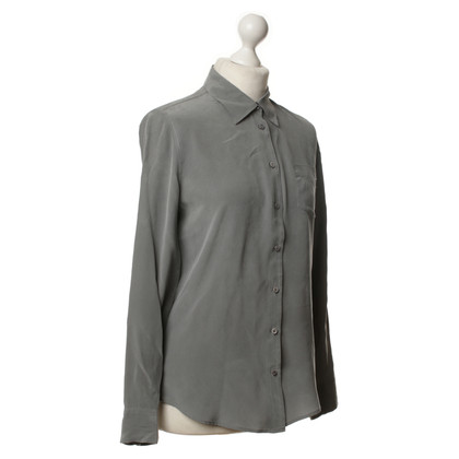 Equipment Blusa in seta grigio