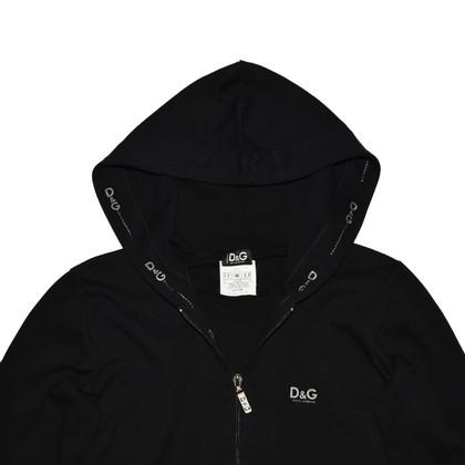 D&G Schwarzer Full Zip Hoodie