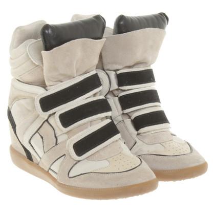 Isabel Marant Sneaker-Wedges in Beige/Schwarz