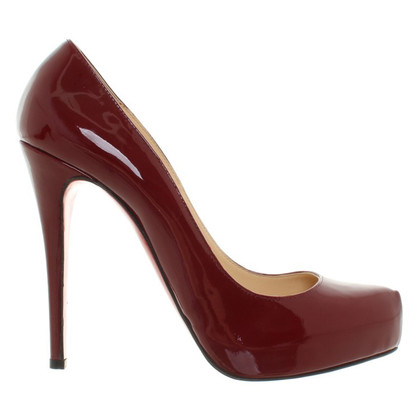 Christian Louboutin Lacquer leather pumps in Bordeaux