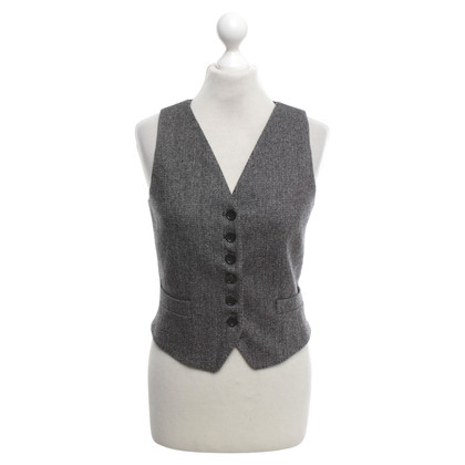 D&G Vest with herringbone pattern