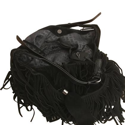 Diane von Furstenberg Wildleder-Handtasche mit Fransen