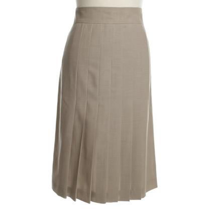 Akris skirt rughe in beige