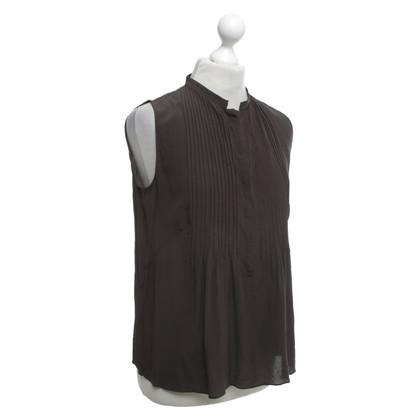 Akris Silk blouse in brown